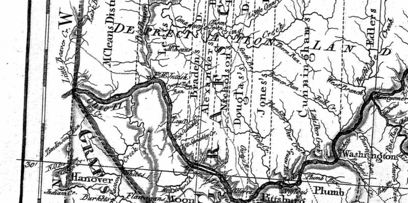 1797 PA MAP Valley Forge Dingmans Ferry Smithville Pennsylvania History SURNAMES