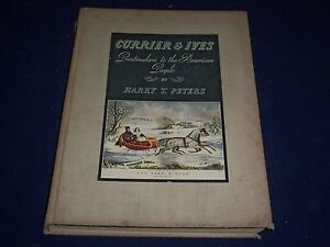 1942 CURRIER AND IVES PRINTMAKERS AMERICAN PEOPLE BOOK - GREAT PLATES - KD 1033