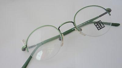Unisex Metallbrille grün unten randlos Neu Optiker Brendel Markenfassung Gr. S