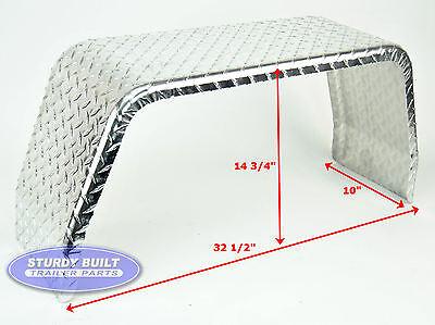 10 Aluminum Boat - (2) Boat Trailer Fenders Square  Aluminum Diamond Tread Plate 10