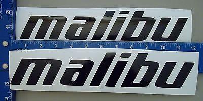 Malibu Boat Wakeboard Ski Sticker Pair Of  2  Choose Size