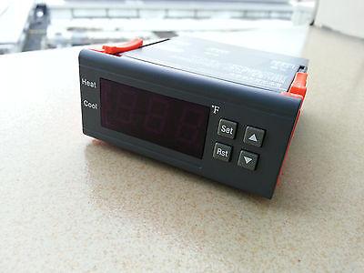 Ac110120v Digital Temperature Controller Thermostat F Fahrenheit