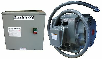 Elimia Rotary Phase Converter 15 Hp -complete System-cast Iron Idler-run Up 10hp