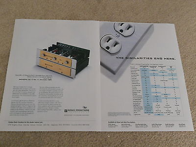 Sonic Frontiers Sfl 2 Tube Preamp Ad  2 Page  1995  Article  Info