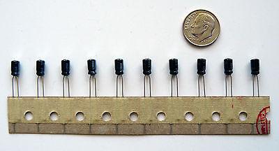 50v Radial Mini Electrolytic Capacitor (1uF 50V Mini Radial Electrolytic Capacitor (10) LOT by Matsushita)