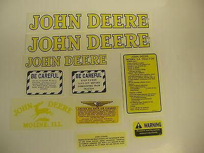 John Deere Model La Tractor Decal Set - New Free Shipping