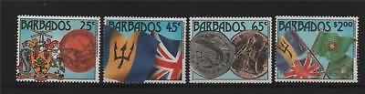 Barbados 1987 Anniv Of Independence SG 849/52 MNH