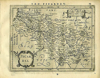 1651 Genuine Antique map of Northern France by Mercator Jansson