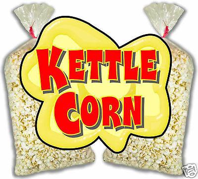 Kettle Corn Korn Concession Food Truck Cart Stand Menu Decal Sticker 24
