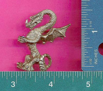 lead free pewter dragon with blue genuine austrian crystal figurines E5157-2