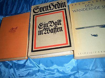 3 Bücher von S. HEDIN : Ein Volk in Waffen ( 1. WK ) , Eroberungszüge . . .