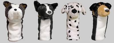 Set of 4 Dog Animal Golf Head Covers (1W, 3W, 5W/7W, Hybrid), Gift Accessories -