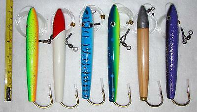 "6/"" Cedar Plugs 6 Pieces /& 4/"" Cedar Plugs 6 Pieces Unrigged 6 Colors COMBO"