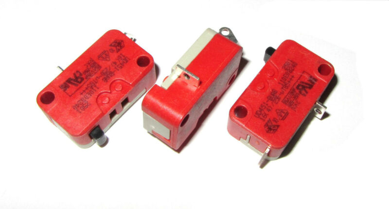 3x Cherry Electric SPST Microswitch Micro Switch 15A 125v to 250v Button - VAC D