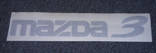 17 inch White Mazda 3 car sticker logo decal custom