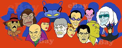 EXTRA LARGE! SUPER FRIENDS Legion of Doom Panoramic Photo Print #2 HANNA BARBERA