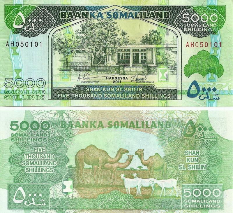 Somaliland 5000 Shillings 2011  Uncirculated Note