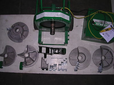 Greenlee 555 Conduit Pipe Bender 5 Shoes 4 Rollers 12 To 2 Emt Ridgid Imc
