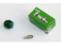 Pair Lucas 12V 1.5W LES Bulbs LLB280 for Morris Minor /& Mini Mk1 Indicator Stalk