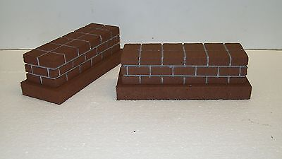 MODEL RAILROAD O GAUGE SHORT BRIDGE PIERS - Set of 2 / trains / scenery  layout for sale  Shipping to Canada