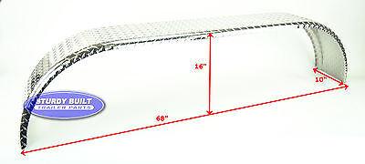 10 Aluminum Boat - (Qty 2)- Aluminum Boat Trailer Fenders Diamond Plate Tandem Axle 10