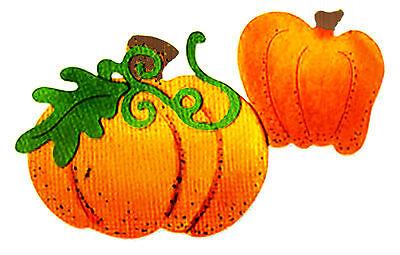 (Sizzlits Pumpkins #7 medium die #656708 Retail $7.99 Retired, 4 shapes! )