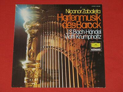 Nicanor Zabaleta - LP  Harfenmusik des Barock, Bach Händel Viotti Krumpholtz