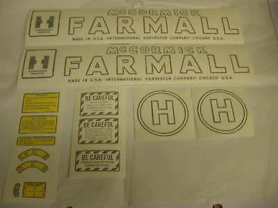 Ihc Farmall Model H Tractor Decal Set - Vinyl Cut New - Free Shipping