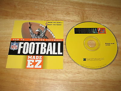 Made Ez Software - NFL Football Made EZ PC CD-ROM Made EZ Software 1999 for Windows 95/98