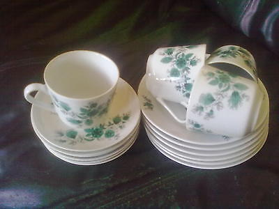 Kahla(Made in GDR) 16 Piece Tea Set-6 Plates/6 Saucers/4 Cups