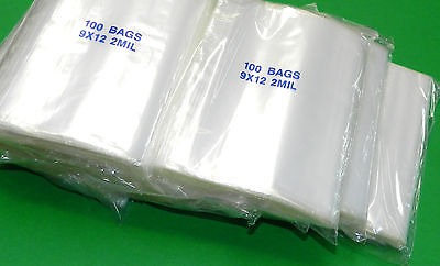 9x12 Ziplock Bags Clear 2 Mil Poly Bag 1000 Large Recloseable 9 X 12 Zip Lock