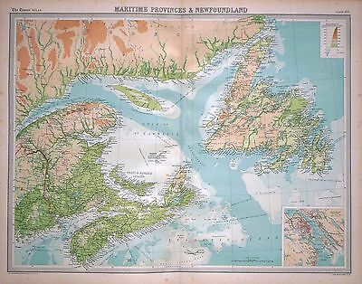 1920 LARGE MAP ~ MARITIME PROVINCES & NEWFOUNDLAND ~ 23