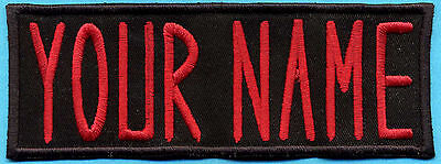 ADULT Custom Ghostbusters Embroidered Name Tag Patch  [IRON-ON]  -- YOUR NAME (Adult Customs)