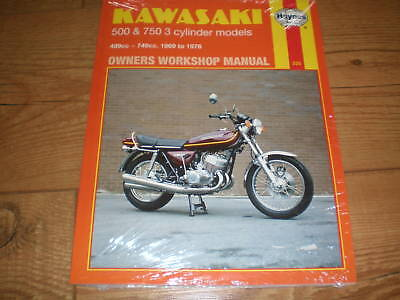 workshop manual for Kawasaki H2 750 1972-1976 KH750