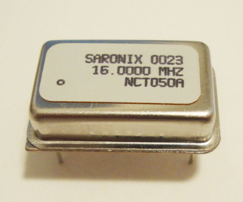 NEW SARONIX 0023 16.0000 MHZ NCT050A OSCILLATOR CRYSTAL