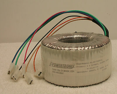 Powertronix Aa-72676-e 355va Toroidal Power Transformer 2x117v Primary New