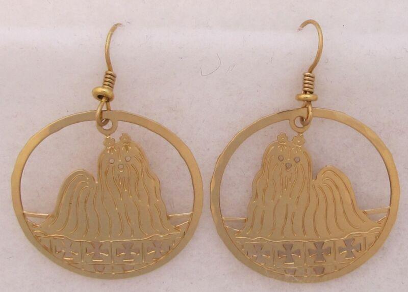 Maltese Jewelry Gold Dangle Earrings by Touchstone
