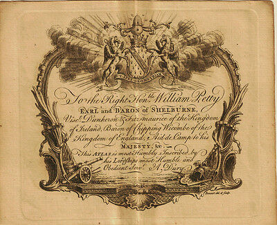 1761 Genuine Antique dedication page from