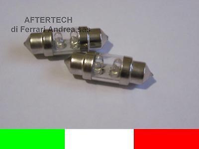 COPPIA LAMPADINE C5W 3 LED SILURO 39mm NO ERRORE N1