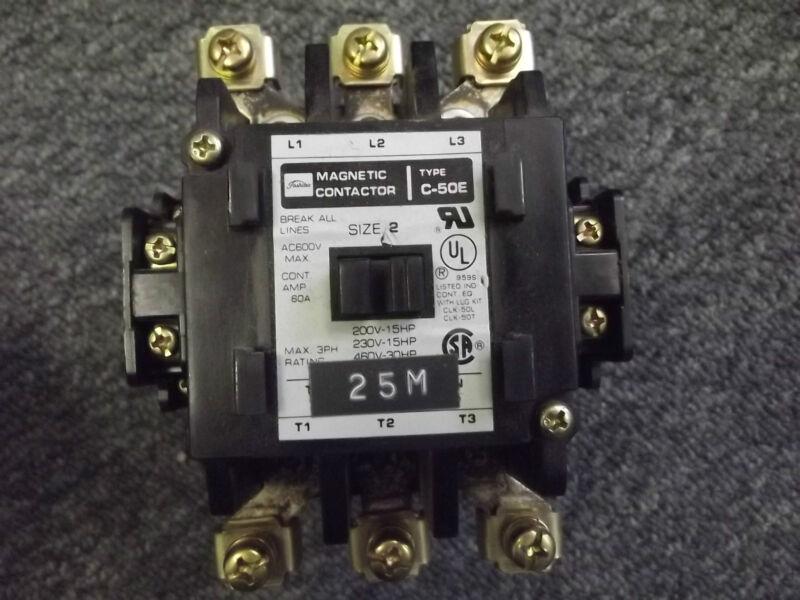 C50-E Toshiba Magnetic Contactor Size 2 60A 600V 3P CSA UL