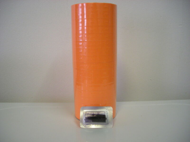 17000  FL-Orange Labels for 1110 Monarch 16Rolls