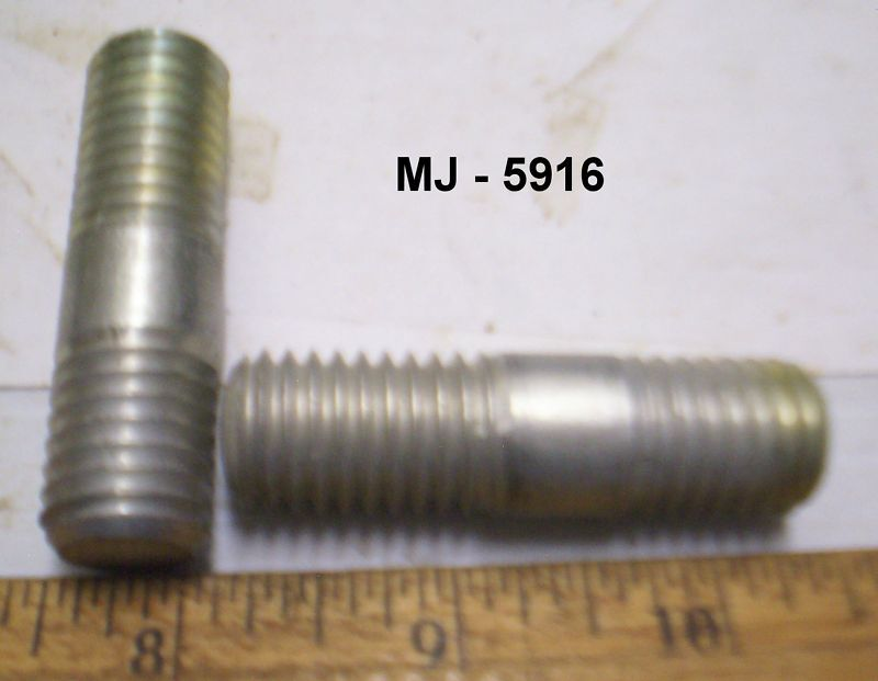 Lot of 2 - Steel Threaded Studs / Bolts  (NOS)