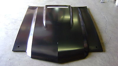 Chevelle 71-72 Cowl Induction Hood Steel w/ flapper door hole fits 70 also  Chevelle Cowl Induction Hood
