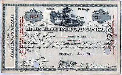 Little Miami Railroad Company Stock Certificate