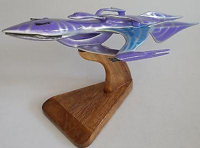 Whitestar-2 Babylon-5 Spacecraft Mahogany Kiln Dry Wood Model Large New
