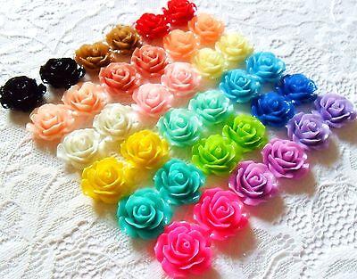 Vintage Rose Pierced Earrings (Vintage Rose Flower Earrings, Clip on or Studs, Rockabilly pierced./ non pierced )