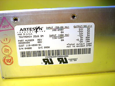 119-4933-01 Tektronix Power Supply Power Supply Assy