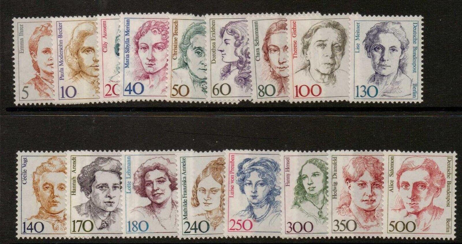 GERMANY SGB732/48 1986 FAMOUS WOMEN  MNH