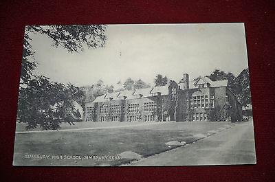 Vintage Post Card  Simsbury Conn   Simsbury High School