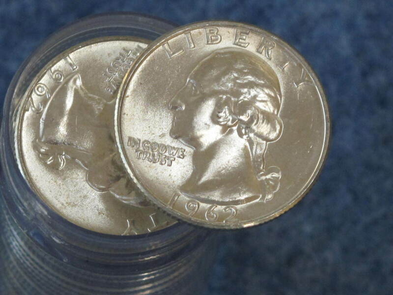 1962-D Washington Silver Quarter Gem BU Roll of 40 Coins B8339